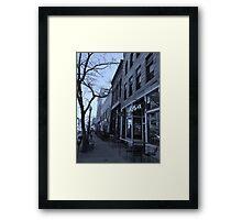 DENVER STREET Framed Print