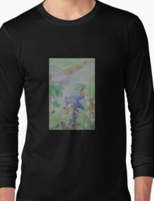 Sonic and Tails run for a friend! Long Sleeve T-Shirt