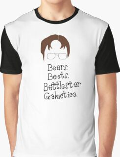 Bears. Beets. Battlestar Galactica. Dwight Schrute the Office Graphic T-Shirt