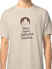 Bears. Beets. Battlestar Galactica. Dwight Schrute the Office Classic T-Shirt