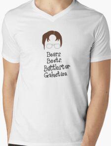 Bears. Beets. Battlestar Galactica. Dwight Schrute the Office Mens V-Neck T-Shirt