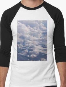 Plane Clouds Men's Baseball ¾ T-Shirt