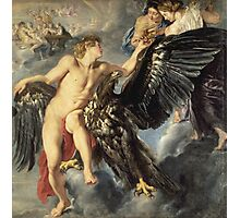 Peter Paul Rubens - The Kidnapping Of Ganymede. Man portrait: young man, sexy, male,  beauty, lovers, Zeus, boyfriend, shepherd, eagle, sexy man, heaven Photographic Print
