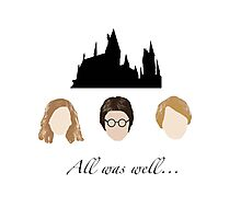 Golden Trio- All was well.. Photographic Print