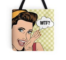 WTF? Pop Art Retro Graphic Tote Bag