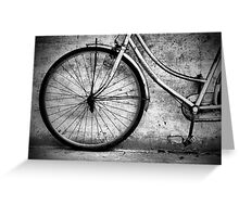 Cambodia Vintage Bicycle Mono Greeting Card