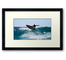A Selfie And A Surf Framed Print
