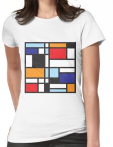 Mondrian Study II Womens Fitted T-Shirt