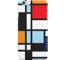 Mondrian Study II iPhone Case/Skin