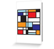 Mondrian Study II Greeting Card
