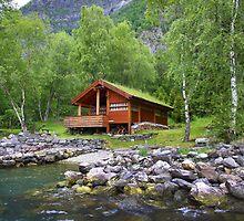 Log Cabin in Skjolden, Norway by SeeOneSoul