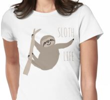 Happy Lazy Sloth - Sloth Life Womens Fitted T-Shirt