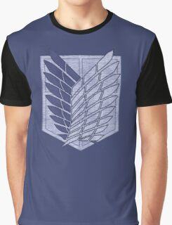°MANGA° Attack On Titan Denim Logo Graphic T-Shirt