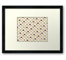 Perks pattern Framed Print