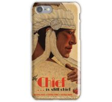 Vintage Rail Travel advert poster, The Chief iPhone Case/Skin