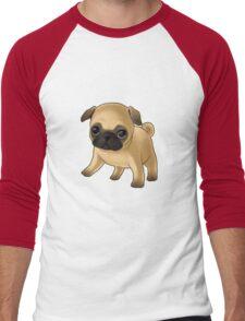 Cute Pug Puppy Men's Baseball ¾ T-Shirt