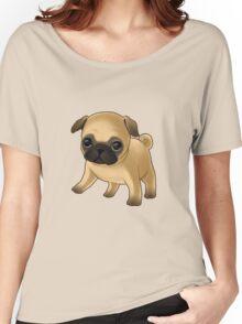 Cute Pug Puppy Women's Relaxed Fit T-Shirt