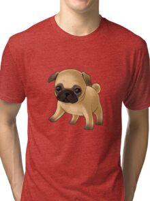 Cute Pug Puppy Tri-blend T-Shirt