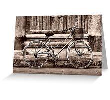 Vietnam Vintage Bicycle Sepia Greeting Card