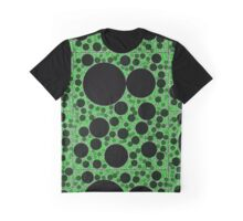 Random Tiling Green Graphic T-Shirt