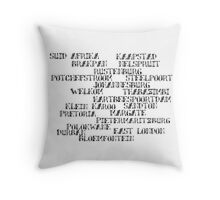 SOUTH African Cities  Throw Pillow