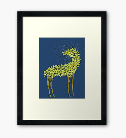 Tree horse with sunburst Framed Print