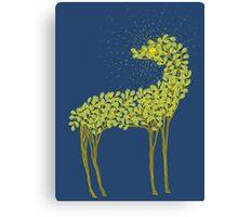 Tree horse with sunburst Canvas Print