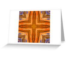 Orange & Blue Greeting Card