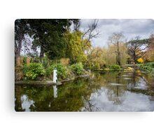 Lakeside in Autumn Canvas Print