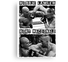 Robbie Lawler Vs Rory Macdonald Canvas Print