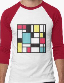 Mondrian Study III Men's Baseball ¾ T-Shirt