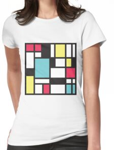Mondrian Study III Womens Fitted T-Shirt