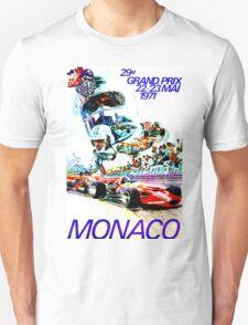 """MONACO"" Grand Prix Auto Races Print Unisex T-Shirt"