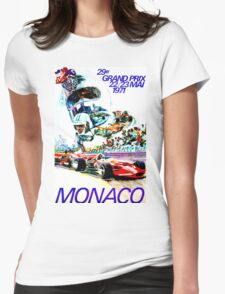 """MONACO"" Grand Prix Auto Races Print Womens Fitted T-Shirt"