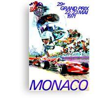 """MONACO"" Grand Prix Auto Races Print Canvas Print"