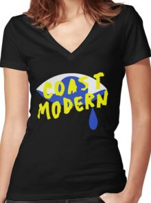 Coast Modern Eye Women's Fitted V-Neck T-Shirt