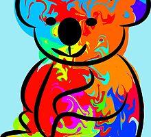 Colorful Koala by ChrisButler