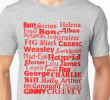 Harry Potter Characters - Good Guys Red Unisex T-Shirt