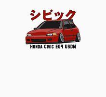 Honda Civic Hatchback on DropMode (red) Unisex T-Shirt