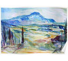 Cezanne's Mountain Poster