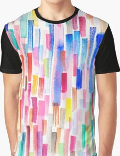 Colorful brushstrokes Graphic T-Shirt