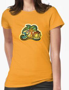 Rio de Janeiro, Brazil, Waves, Palm, Sun Womens Fitted T-Shirt