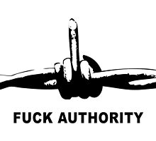 Fuck Authority (Barbwire) by Bela-Manson