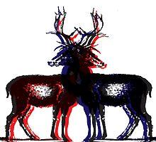 3D Deers by Charlotte Anderson