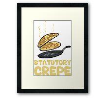 Statutory Crepe Framed Print