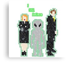 the xfiles belive it or not 8bit Canvas Print