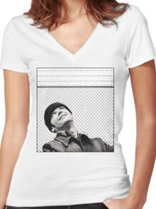 McMurphy from One Flew Over the Cuckoo's Nest Women's Fitted V-Neck T-Shirt