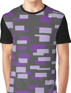 Gray & 2 Shaes of Purple Graphic T-Shirt