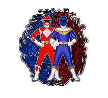 Its Morphin Time - Rocky's Rangers Photographic Print