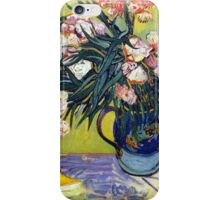 'Still Life with Oleander' by Vincent Van Gogh (Reproduction) iPhone Case/Skin